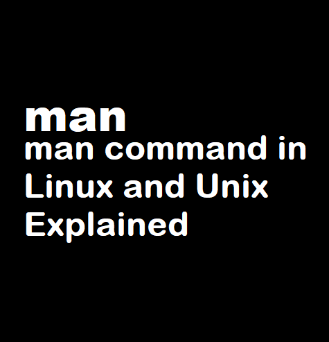 man command in Linux and Unix