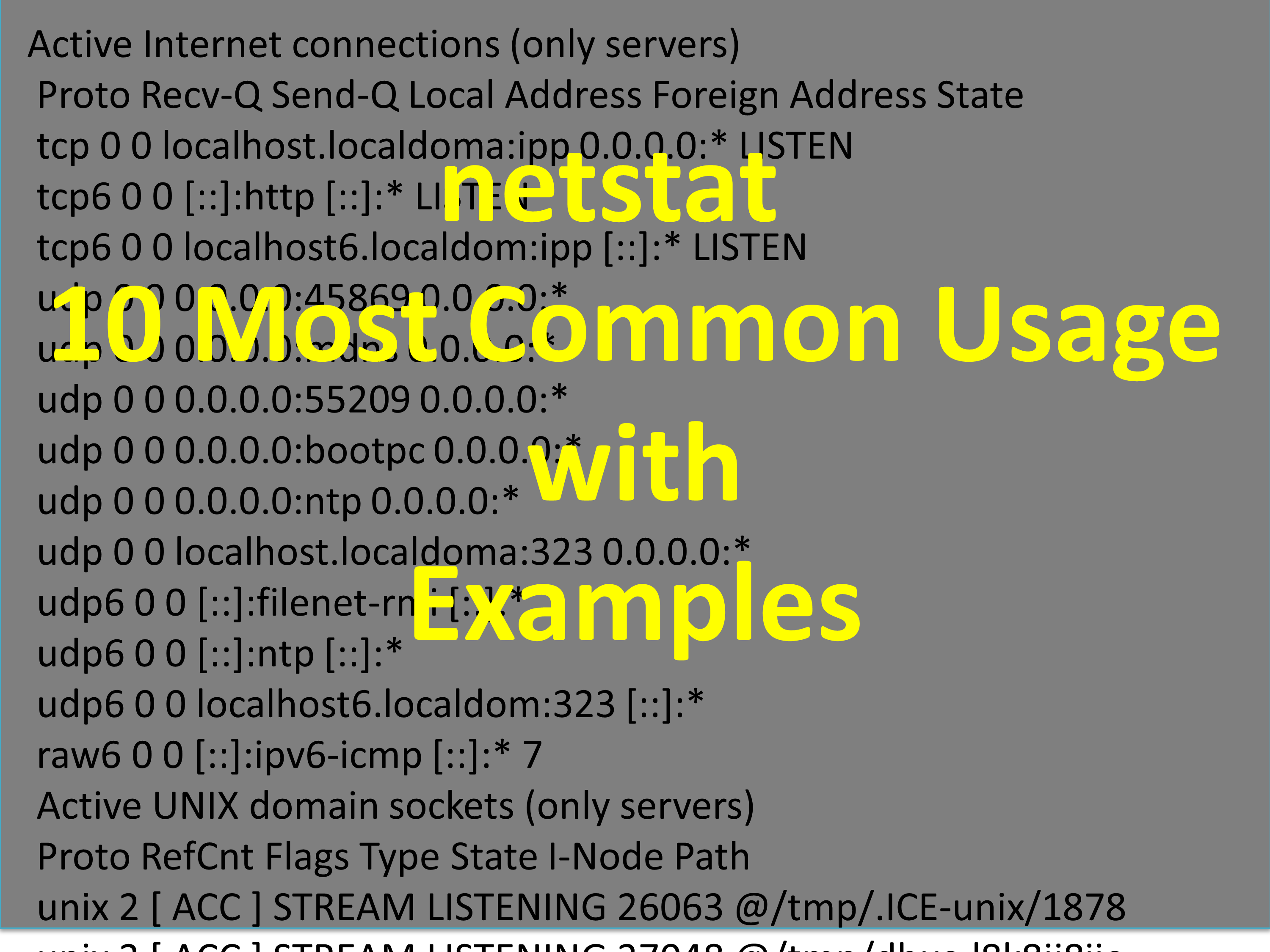 netstat – 10 Most common usage with examples