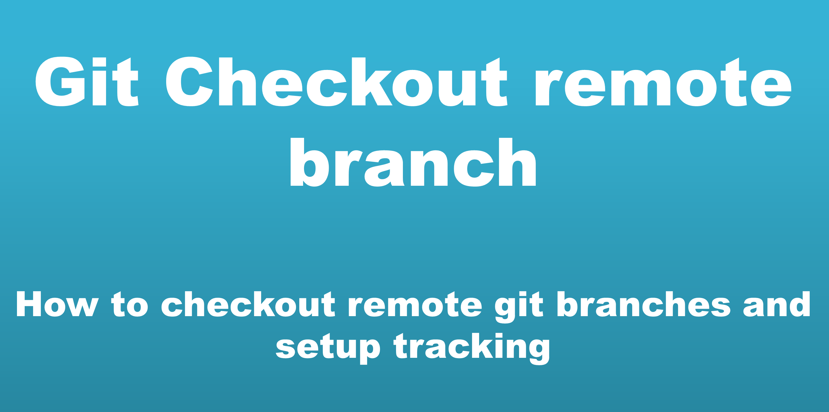 git checkout remote branch – How to, Examples and Options